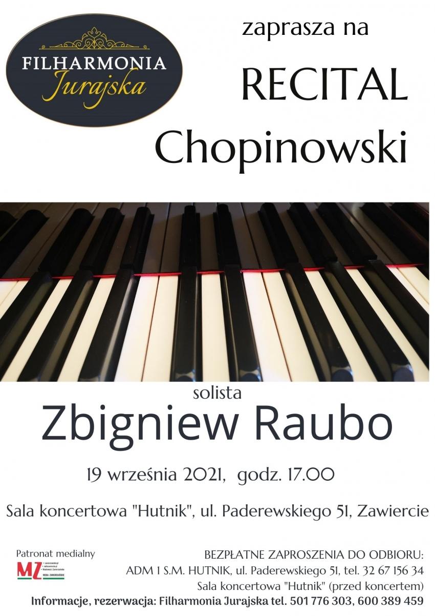 Filharmonia Jurajska zaprasza na recital Chopinowski
