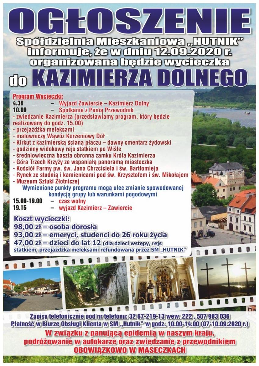 Wycieczka do Kazimierza Dolnego