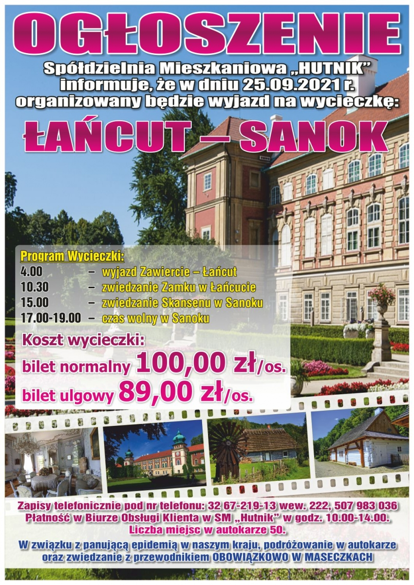 Wycieczka Łańcut - Sanok